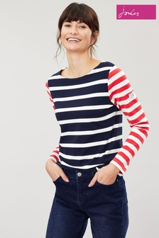 Joules Blue Harbour Stripe Jersey Top