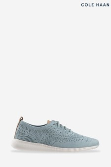 Cole Haan Blue 2.Zerogrand Stitchlite Oxford Lace-Up Shoes