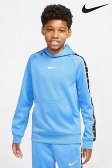 Nike Blue Swoosh Tape Overhead Hoody