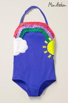 Boden Navy Appliqué Swimsuit