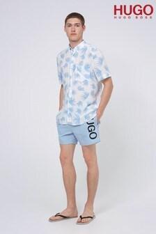 HUGO Blue ABAS Swim Shorts