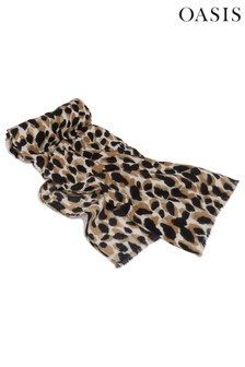 Oasis Animal Watercolour Leopard Scarf