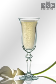 Set of 6 Laura Champagne Flutes By The DRH Collection