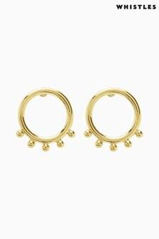 Whistles Gold Tone Ring Stud Earrings