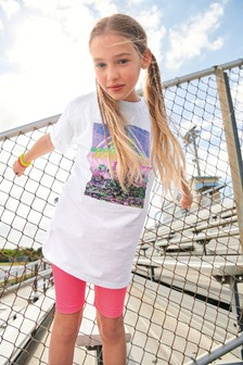 Sports T-Shirt And Cycling Shorts Set (3-16yrs)