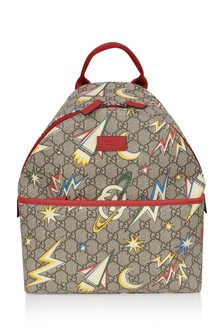 Beige GG Space Print Backpack