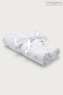 The White Company White Safari Print Muslins 2 Pack