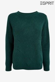 Esprit Green Ajur Knit Sweater