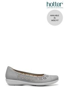 Hotter Livvy Wide Fit Slip-On Ballerina Shoes