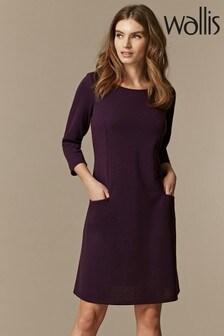 Wallis Purple Pocket Detail Swing Dress