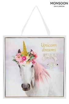 Monsoon Metallic Unicorn Dream Jewel Card And Gift Box