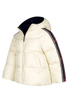 GUCCI Kids Baby Girls White Trim Padded Jacket