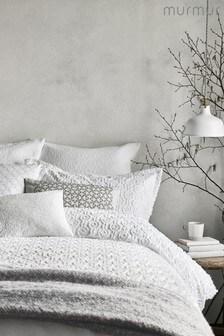 Zdobiona poduszkaMurmur Ebba Squiggle z bawełny