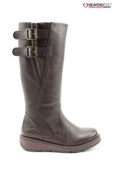 Heavenly Feet Tyrell Chocolate Tall Boots
