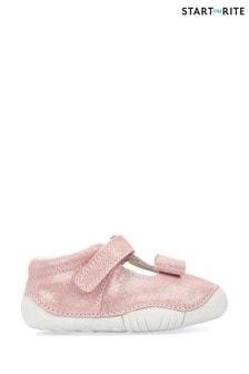 Start-Rite Wiggle Pink Metallic Leather Prewalkers