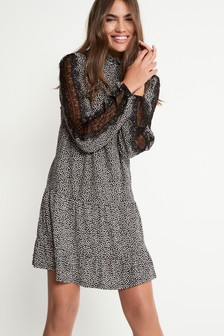 High Neck Lace Tunic