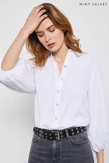 Mint Velvet White Full Sleeve Cotton Shirt