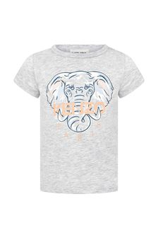 Kenzo Kids Baby Girls Grey Cotton T-Shirt
