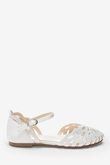 Scalloped Edge Sparkle Occasion Shoes
