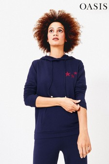 Oasis Blue Hooded Star Sweater