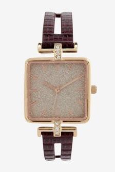 Square Split Strap Watch