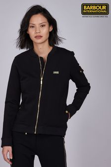 Barbour® International Black Jersey Magna Zip Sweater