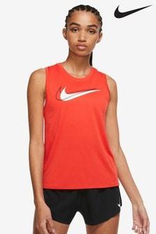 Nike Womens Red Swoosh Running Tank