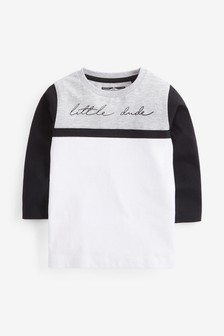 Long Sleeve Jersey Colourblock T-Shirt (3mths-7yrs)