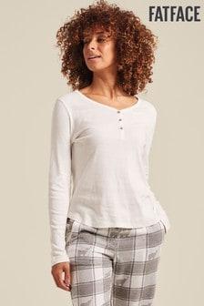 FatFace Natural Maple Henley Pyjama Top