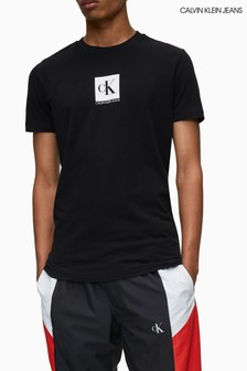 Calvin Klein Jeans Black Centre Monogram Box T-Shirt