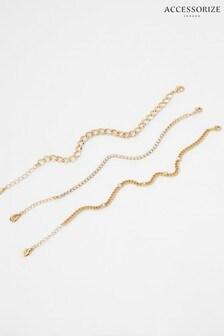 Accessorize Sparkle And Curb Chain Bracelet Set
