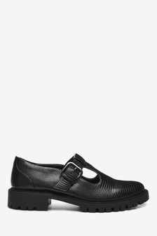 Chunky Sole T-Bar Shoes