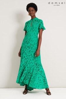 Damsel In A Dress Green Lulu Lace Maxi Dress