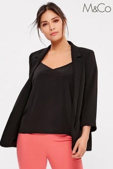 M&Co Black Crepe Blazer