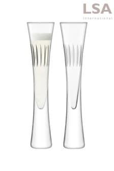 Set of 2 Moya Champagne Flutes by LSA International