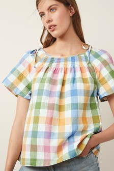 Bright Gingham Top