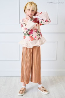 Angel & Rocket Pink Rose Velvet Culottes