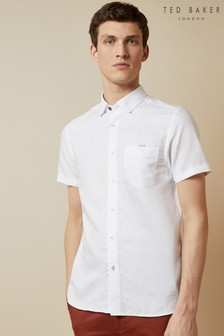 Ted Baker Have Fun Short Sleeve Linen Shirt