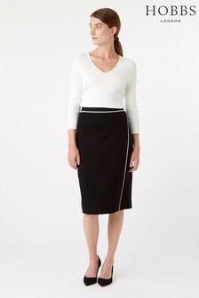 Hobbs Black Monica Knitted Skirt