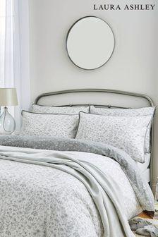 Steel Lisette Duvet Cover And Pillowcase Set