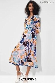 Mix/Brogger Floral Ruffle Wrap Dress