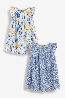 2 Pack Floral Dresses (0mths-2yrs)