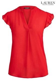 Lauren Ralph Lauren® Red Collins Blouse