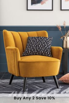 Rosie Accent Chair With Black Legs