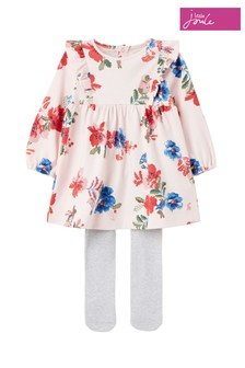Joules Pink Peter Rabbit Harleigh Dress And Tights Set