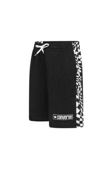 Boys Black Cotton Blend Shorts