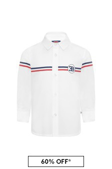 Bugatti Baby White Cotton Boys Shirt
