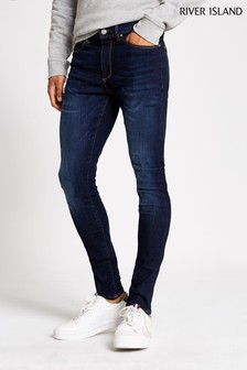 River Island Dark Blue Zepplin Jeans
