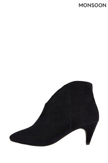 Monsoon Blue Low Vamp Suede Ankle Boots