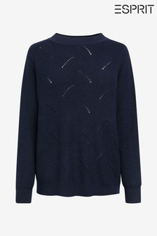 Esprit Blue Ajur Knit Sweater